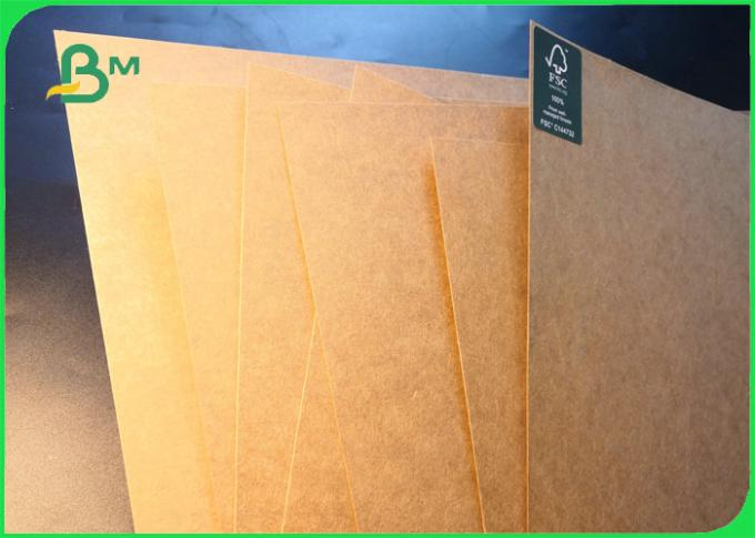 FSC Custom Made 100g - 450g 100% Virgin Pulp Brown Craft Paper For Wrapping